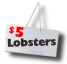 Lobster $5 lb. sign